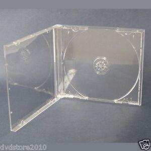 50 CUSTODIE JEWEL CASE TRASPARENTI CLEAR per CD DVD vergini PER verbatim BOX24