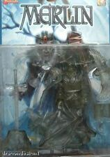 MERLIN ACTION FIGURE. TRANSPARENT VARIANT. LADY PENDRAGON 1999. NEW ON CARD