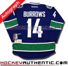 ALEX BURROWS SIGNED VANCOUVER CANUCKS JERSEY RBK PREMIER 7185