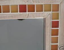 Miroir avec cadre en bois et pâte de verre 73 x 42 cm NEUF