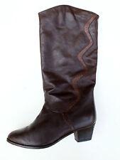 Salamander Damen Stiefel Chic Boots Gr. 38 UK 5 Braun Leder Futter True Vintage
