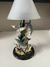 Dolphin Base Votive Candle Holder With Glass Shade