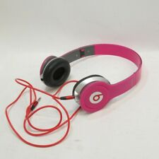 Beats By Dr. Dre Headphones Solo HD in Pink w/ Cable - Untested Set - No Box
