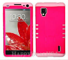 KoolKase Hybrid Silicone Cover Case for AT&T LG Optimus G E970 - Hot Pink (FL)