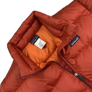 Mens Small Patagonia Brick Red Full Zip 700 Fill Down Puffer Coat 84600F4