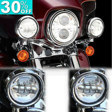 "New listing 4.5"" Led Daymaker Spot Passing Lights Fit Harley Davidson Touring Electra Glide"