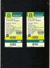 Used match TICKETS Plymouth Argyle vs Exeter City