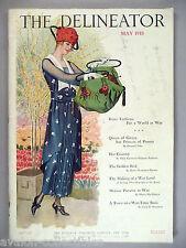 "The Delineator Magazine - May, 1918 ~~ giant 11"" x 16"" fashion magazine"