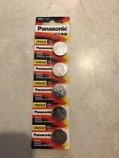 5 x Panasonic CR2032 3V Lithium Coin Cell Battery 2032