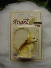 Cockapoo dog Angel Ornament Resin Hand Painted Figurine Christmas puppy blond