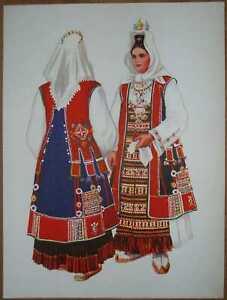 Croatia Folk Costume Dalmatia Muc - I/06