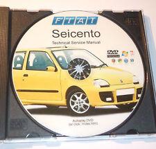 DVD MANUALE OFFICINA-TECHNICAL SERVICE MANUAL -WORKSHOP FIAT SEICENTO 600 (EN)