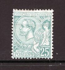 Monaco 1891 Prince Albert 25c Green Mint OG Small Faults