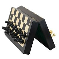 """The Black Book - Jeu d'échecs magnétique 10"""" Mini échiquier en ébène Pièces 1.7"""""""