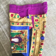 GIANNI VERSACE COUTURE jeans with iconic Le Madonne print size 8 from 1991