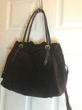 Kate Spade New York Brown Suede Shoulder Tote Purse Extra Large