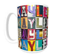 PAIGE Coffee Mug Cup featuring the name in photos of sign letters