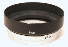 Canon Original S-50 Metal Lens Hood - 50mm Clamp Over fit for 48mm thread.