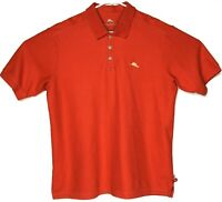 Tommy Bahama Mens Large Red Short Sleeve Casual Golf Polo Supima Cotton Shirt