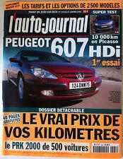 L'AUTO-JOURNAL du 27/01/2000; 607 HDI/ Le vrai prix de vos Kilomètres
