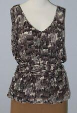 BANANA REPUBLIC Size S Black V-Neckline Sleeveless Blouse