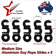 5 x Aluminium Guy Rope Tent Cord Tensioner 55mm guyline line slide camping ropes