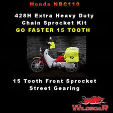 HONDA NBC110 NBC 110 POSTIE BIKE SUPER CUB 428H CHAIN SPROCKET KIT-GO FASTER