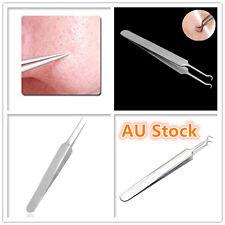 2 Pcs Blackhead Tools Acne Pimple Blemish Extractor Remover Clip Needle Tweezers