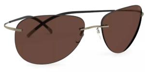 New Silhouette Sunglasses TMA Icon 8697 6140  Brown Rimless   Men