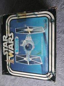 Star Wars Vintage complete Tie Fighter BOX, instructions, catalog LIGHT WORKS