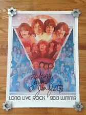 JOAN JETT AUTOGRAPHED Music Conference poster - Vintage - 1981 - VERY GOOD