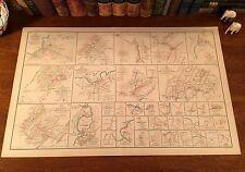 Original Antique Civil War Map RUDE HILL MILFORD BROCK'S GAP Virginia Valley VA