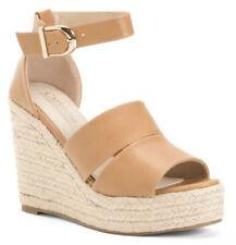 "Catherine Malandrino ""Camel Vegan Le� Ankle Wrap Espadrille Sandal, Size 8.5"