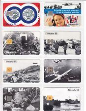 8 TELECARTE / PHONE CARD .. FRANCE 50U PACK ARMEE D-DAY DEBARQUEMENT 1944 C.24