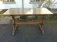 A Vintage Oak Reproduction/Antique Style Farmhouse Refectory Table Shabby Chic