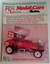 Radio Control Model Cars Mag Vtg Dec 1987 RARE VHTF Ads! Ultima Sprint ROAR 1/8