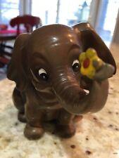 Vintage Josef Original Elephant W/Flower Figurine