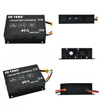 Black Metal 40A Car Electric Convertor DC 24V To 12V Power Inverter Transformer