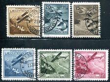 Liechtenstein 1930 108-113 jaulas frase vuelo post 300 € (j8131