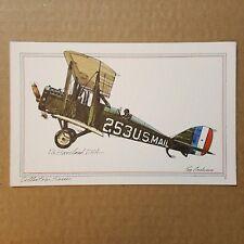 de Havilland D.H.4 Collector Series Roy Andersen United Airlines litho Postcard