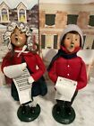 """Byer's Choice Carolers """"The Carolers""""1993 Boy And Girl Holding Music Sheet"""