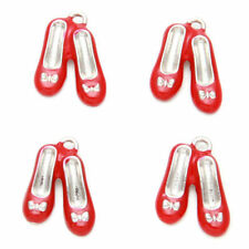 2 ruby Red Shoes wizard of oz dorothy Charms fr51