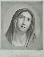 """Nach Guido RENI (1575-1642), """"Mater Amabilis"""", um 1884, Lithographie"""