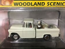 Woodland Scenics HO-Scale Hall & Duke Chevy Pickup with dog and driver