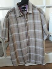 Beige And Lilac M+S short Sleeve Shirt XL