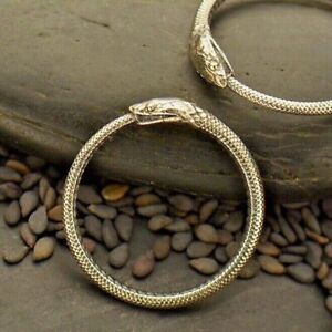 Ouroboros Sterling Silver Snake Ring Oxidized Serpent Gothic Ring Sz 6 7 8 9