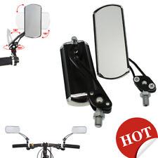 1 couple Bicycle Bike Cycling Handlebar Rear View Rearview Mirror Rectangle&Base