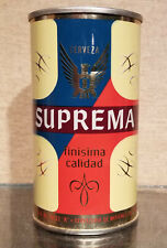 Minty 1970 Bottom Opened Suprema Straight Steel Pull Tab Beer Can Mexico