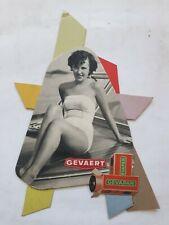 VINTAGE PLV POS ADVERTISING GEVAERT GEVAPAN 1956  39X27CM 306