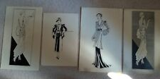 More details for rare 4 original ink fashion design h m russell mainbocher early 1930s 1 signed